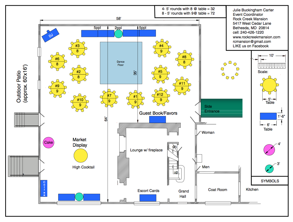 Floor Plan 14 tables