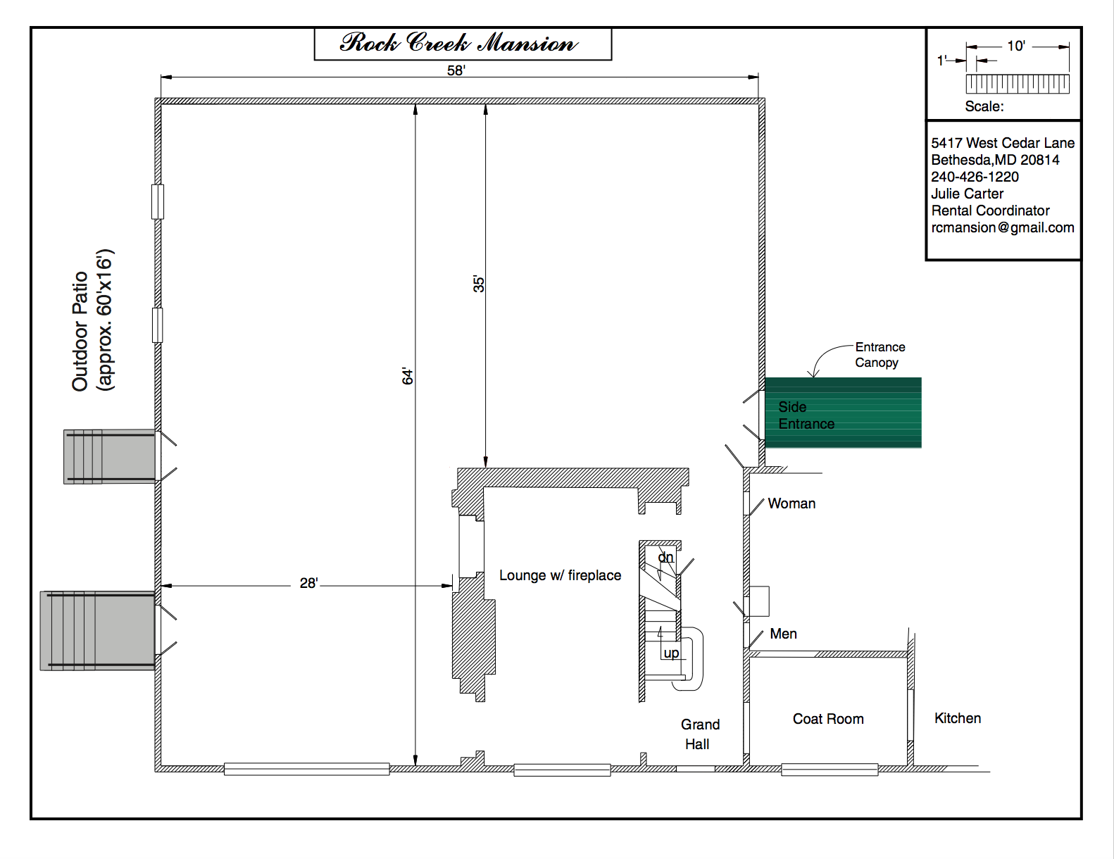Floor Plan – Rock Creek Mansion